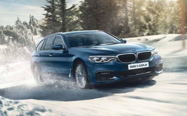 Erään BMW 5-sarjan -malleja xDrive nyt vain 490 €