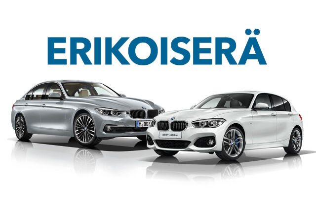 Erikoiserä vähän ajettuja BMW- ja MINI-autoja