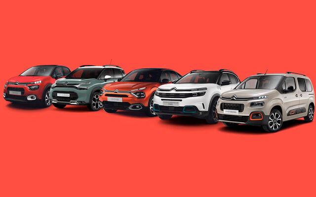 Koko Citroën-mallistoon rahoitus 0 % + kulut