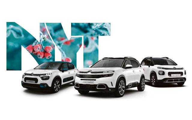 Koko Citroën-mallistoon rahoitus 1 %+kulut