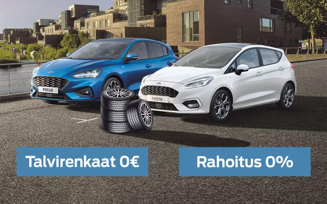 Erään Ford-malleja rahoituskorko 0% ja talvirenkaat 0€