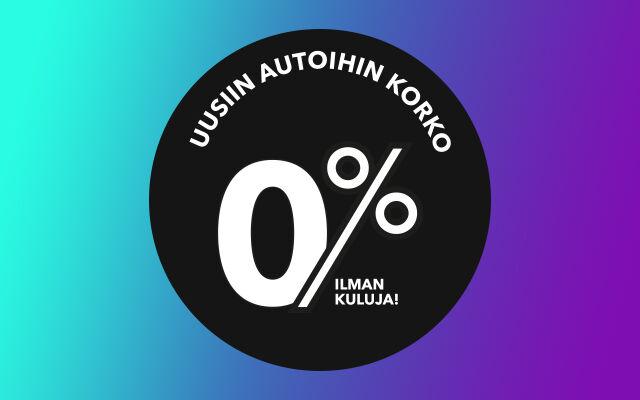 Uusiin autoihin rahoitus 0 % ilman kuluja