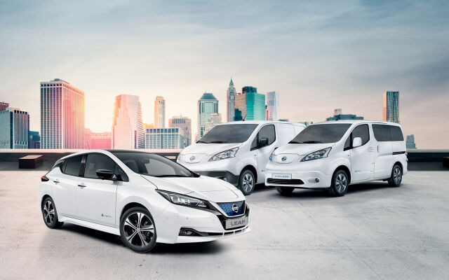 Nissan-sähköautot