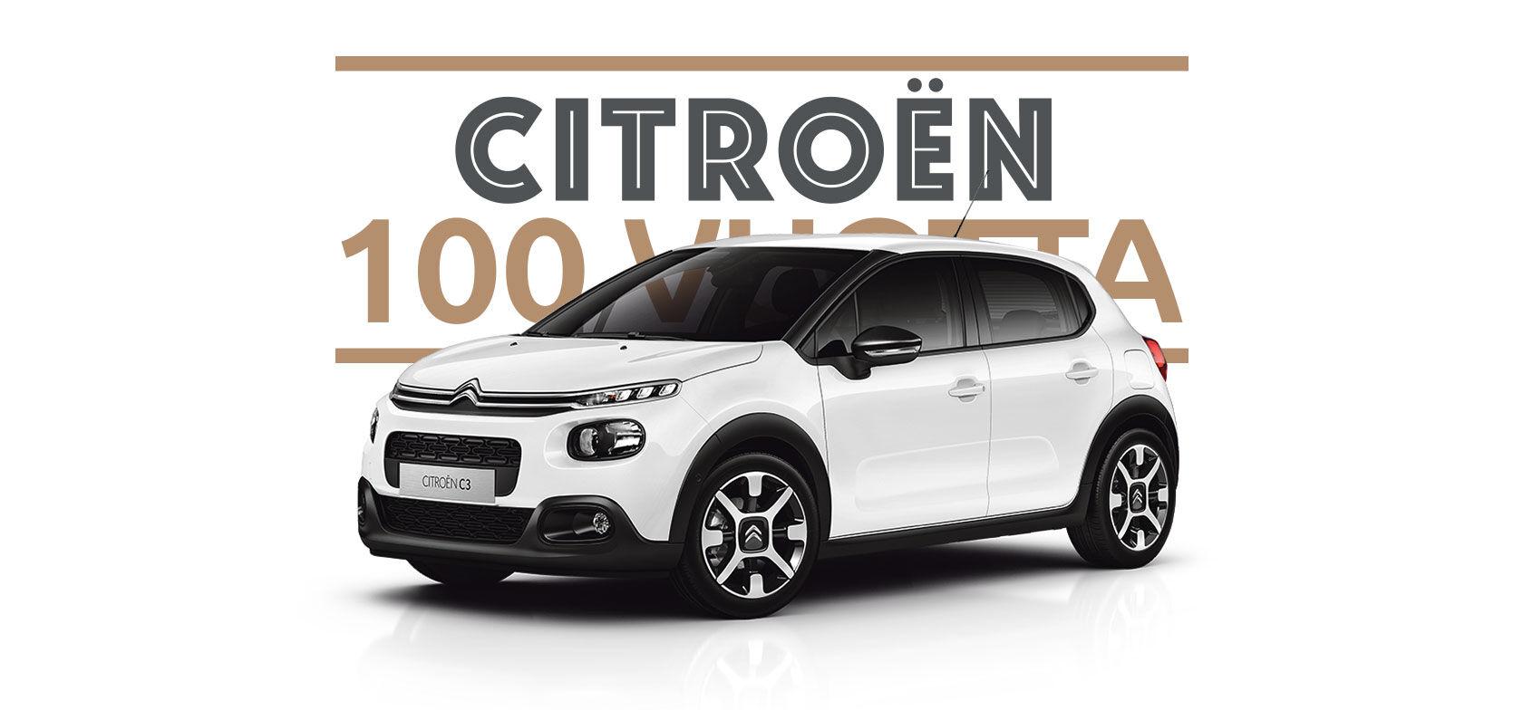 Citroën 100v. kunniaksi nyt 100 kpl Citroën C3-malleja erikoishintaan